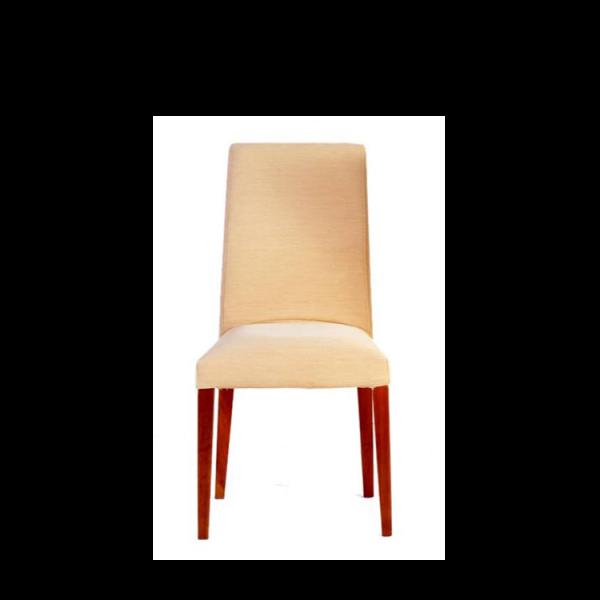 Cadeira com estrutura em madeira de faia. Acabamento na cor mel e verniz acetinado.
